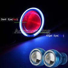 2X Headlight Blue Halo Red Demon eye For Kawasaki ZX6R 636 10R 650R Ninja EX