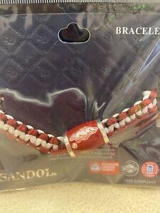 Arkansas Razorbacks Bracelet Leather Beaded Bracelet Hogs Bracelet Arkansas Spirit Leather Bracelet University of Arkansas