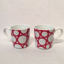 Two Oversized Crate & Barrel Mugs Mint Condition