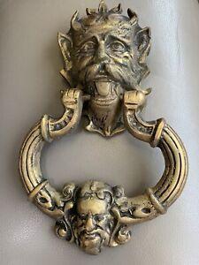Vintage Brass Gargoyle Door Knocker
