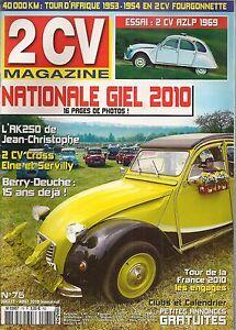 2CV MAGAZINE 75 CITROEN 2CV AZLP ENAC 1969 NATIONALE 2CV 2010 TOUR D'AFRIQUE 53