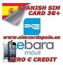 Lebara cero español PAYG prepago tarjeta sim móvil 3G de datos de Internet para España