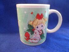 Precious Moments Coffee Mug, 2011, Christmas, mistletoe, angel, cocoa