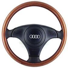 Genuine Nardi wood leather steering wheel with Audi airbag. VW Golf Polo etc  5B