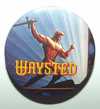 """Waysted Save Your Prayers Original Vintage 1987 Button Pin Badge(32mm-1.25"""")"""