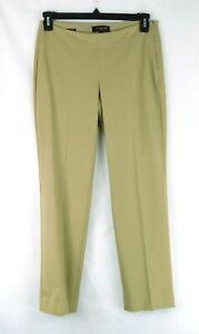 Talbot's Signature Women's Camel Tan Straight Slim Leg Pants Size 4P Petite