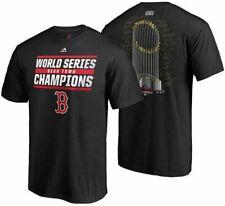 Boston Red Sox World Series Signature Roster Trophy T-Shirt Men's Size L Black