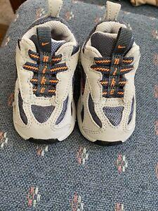 NEW Nike little Xccelerator Shoes size 2C 306060-002 - GRAY ORANGE DEADSTOCK