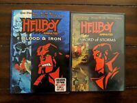 Hellboy Animation Movie DVD Lot of 2 (Blood and Iron (New) & Sword of Storms)