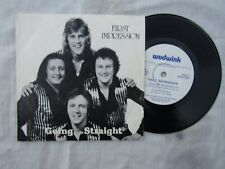 FIRST IMPRESSION GOING STRAIGHT EP signed on the rear .......  pop '80's 45 rpm