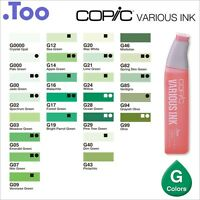 """Copic Various Ink """"G(Green) Color Series""""Refill for Too Sketch and Ciao"""