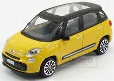 Fiat 500L City 2012 Yellow Black Burago 1:43 BU30271Y-30000