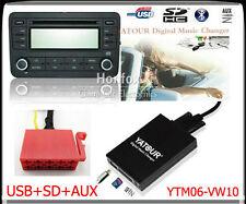 Yatour Digital CD changer 10pin for 1993-98 VW Passat Jetta Golf SD USB Adapter