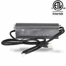 ETL LISTED 24v 12.5A 300w LED Light Power Supply Driver Waterproof + AC Plug