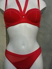 CHARLOTT lingerie soutien gorge 90B+string 2 rouge neuf dégriffé sans étiquette