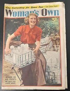 """Woman`s Own"" magazine Aug 7th 1942 WW2 Home Front Leonie Mason George Woodman"