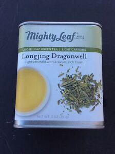 Mighty Leaf Organic Longjing Dragon Well Tea Sealed Tin