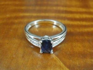 Purple Tanzanite Color Cubic Zirconia Stones Sterling Silver RING Size 7