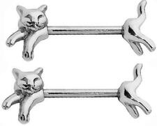 Nipple Shield Rings barbell barbells sold as a pair 14 gauge cats