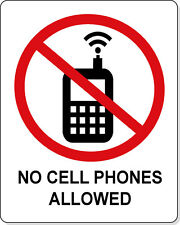 """No Cell Phones Allowed Sticker Decal 4""""x5"""""""