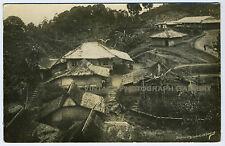 Antique Real Photo Postcard Village Houses Bogor West Java Indonesia Buitenzorg