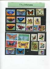 24 PCS BUTTERFLY USED STAMPS AUSTRALIA ETC # T084