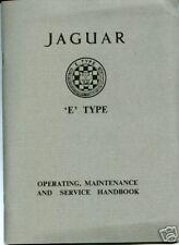 Jaguar E-type Series 1 3.8 Operating Maintenance Service Handbook E122/5