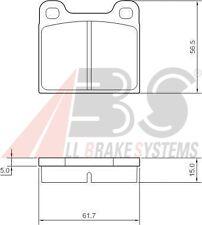GLAS GT : Jeu de plaquettes de freins avant  arrière (syst ATE) =  300057