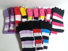 Striped Toe Socks Mid Calf Size 9-11 Multiple Colors Your Choice Yelete