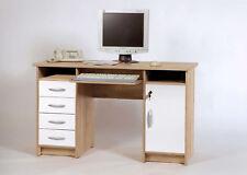 Tino - Scrivania in quercia Sonoma d'imitazione / bianco, ca LAP: 126x77x55cm
