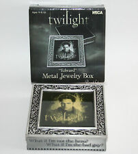 TWILIGHT Movie EDWARD VAMPIRE Pewter Metal Jewelry Box Quote Hero Bad Guy? NECA