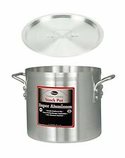 """Winco 10"""" x 6-1/2"""" Pot with Cover, Aluminum Professional Sauce Pot with Lid"""