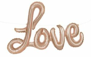 """36"""" Rose Gold Love Word Foil Letter Air Balloon Engagement Party Decor No Helium"""