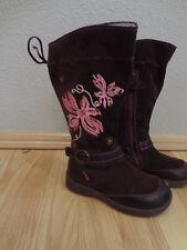 PRIMIGI Kids Girls Suede Embroidered Boots Size 25