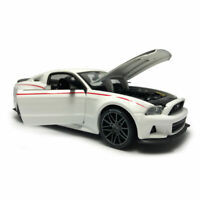 1:24 2014 Ford Mustang Street Racer Model Car Diecast Vehicle White Collection