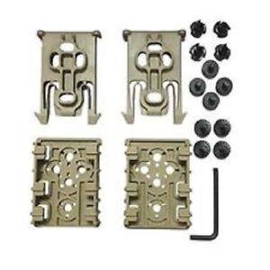 Safariland ELS-KIT1-55 Equipment Locking Set Pack of 2 FDE Finish