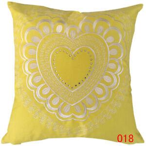 "Pack of 4Pcs - ""Heart Shape"" Double Sides SHINING Diamond Cushion Cover"