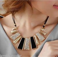 Women Girl Crystal Choker Statement Charm Pendant Chain Necklace Jewelry Decor