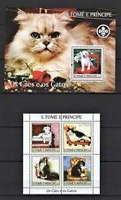 S TOME E PRINCIPE 2004 - OS CAES E OS GATOS -CATS DOGS DOMESTICATED PETS MNH** D