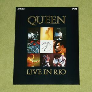 QUEEN Live In Rio 1985 - RARE JAPANESE VHD VIDEO DISC (VHM58090) [LaserDisc]