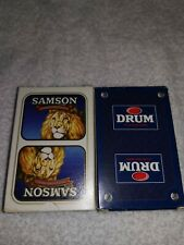 TWO Decks of playing cards in a lot    DRUM  and SAMSON.