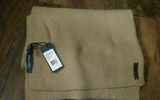 NEW MEN'S COLE HAAN TAN BRAIDED RIB EDGE MUFFLER WINTER WOOL SCARF CHOM43010