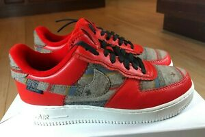 Nike Air Force 1 Low Pendleton By You Red Grey DJ2675 991 Men's Size 9.5