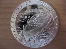 GIBRALTAR 1993 Warships HMS HOOD 1 Crown Proof SILVER #16.1487