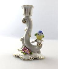 #e4712 Aelteste Volkstedter Porzellan Manufaktur Leuchter mit Vogel