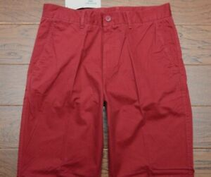 Lacoste Men's Classic Fit Andrinople Red Cotton Casual Chino Pants W30 L30 EU 38
