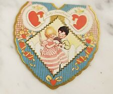 """Antique Valentine's Day Heart Shaped Card """"To My Sweetheart"""""""