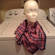 Abercrombie and Fitch  LARGE scarf 40X40 lightweight plaid