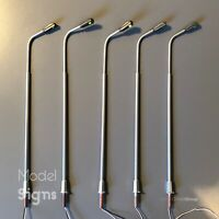 UK 5x Curved Arm LED Streetlights Lamp Post OO HO for Hornby SLCUR ModelSigns