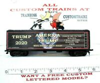 """HO CUSTOM LETTERED AMERICA FOR TRUMP. """"THROW ME TO THE WOLVES"""" REEFER LOT D"""